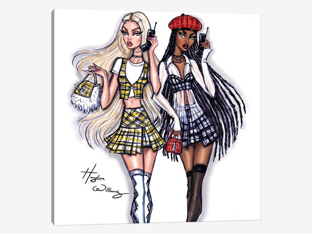 Clueless: Cher & Dionne by Hayden Williams 1-piece Canvas Art Print
