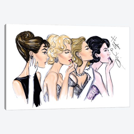Old Hollywood Glam Canvas Print #HWI83} by Hayden Williams Canvas Print
