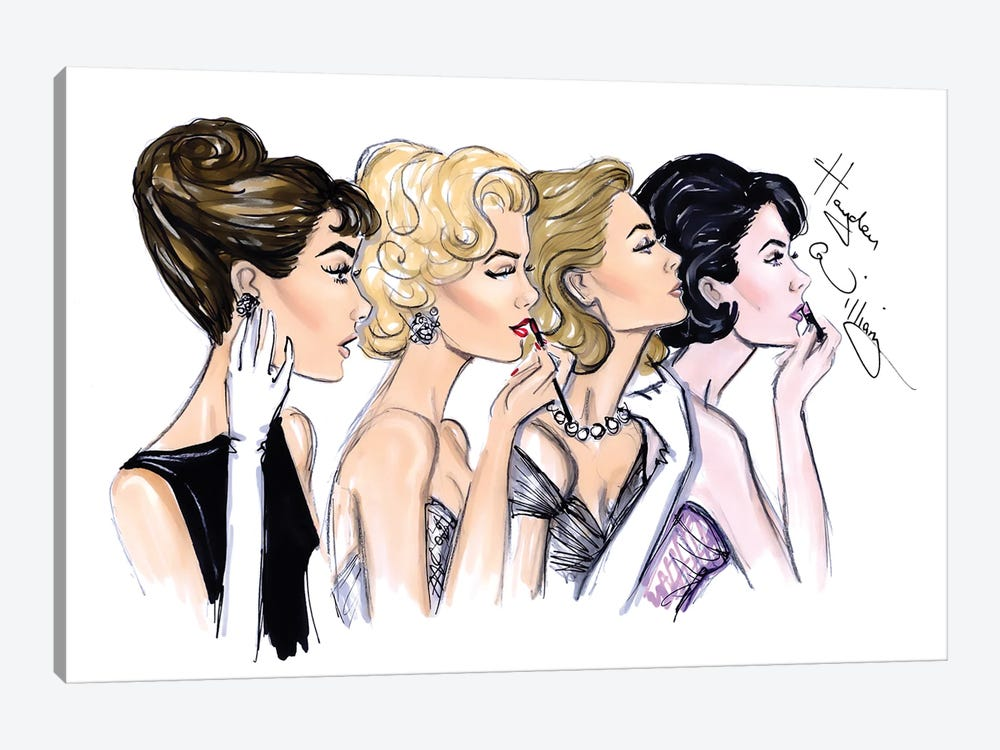 Old Hollywood Glam by Hayden Williams 1-piece Canvas Print