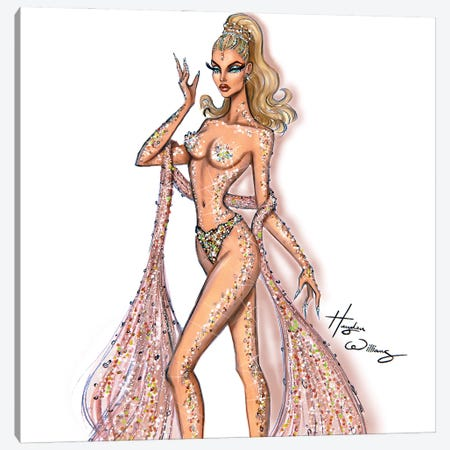 Showgirl Canvas Print #HWI86} by Hayden Williams Canvas Artwork