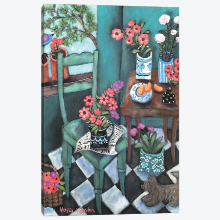 Flowery Corner Canvas Print #HWJ13} by Holly Wojahn Canvas Art Print