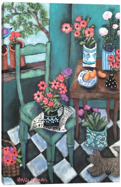 Flowery Corner Canvas Art Print