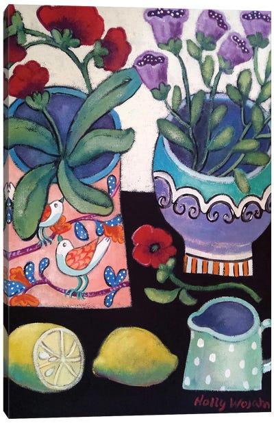 Happy Still Life With Lemon Canvas Art Print