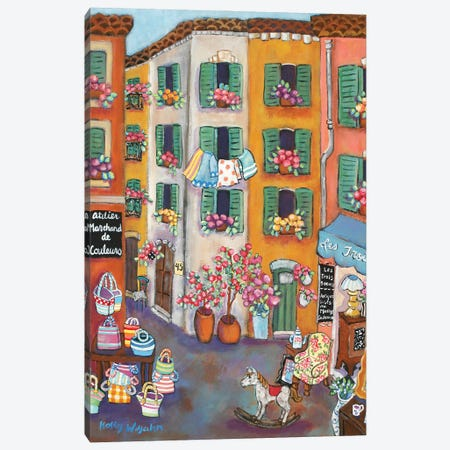 Vieux Ville Canvas Print #HWJ26} by Holly Wojahn Art Print