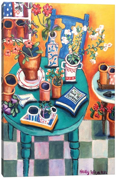 A Sunny Garden Room Canvas Art Print