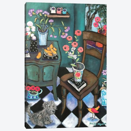 Another Flowery Corner Canvas Print #HWJ5} by Holly Wojahn Canvas Art