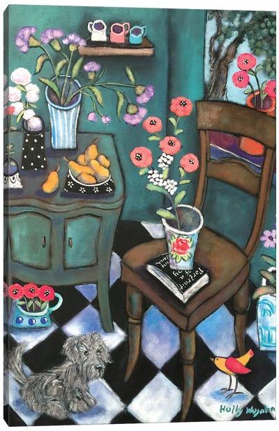 Another Flowery Corner Canvas Art Print