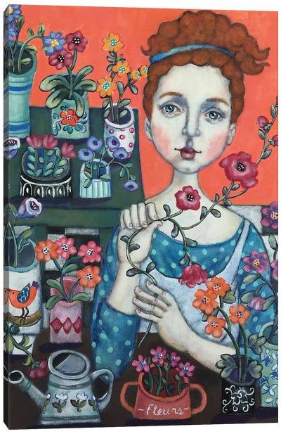 Belle Fleuriste Canvas Art Print