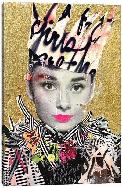 Happy Girls Are The Prettiest Girls Canvas Art Print