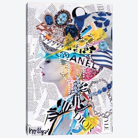 La La La Audrey Canvas Print #HWS13} by HOLLYWOULD STUDIOS Canvas Wall Art