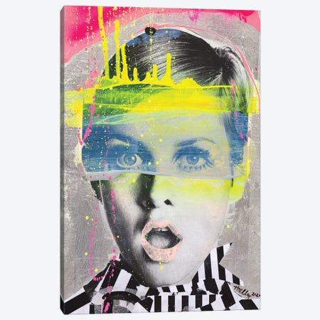 Omg Twiggy Canvas Print #HWS17} by HOLLYWOULD STUDIOS Art Print