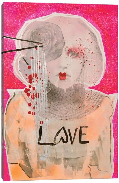 Courtney As Geisha Canvas Art Print