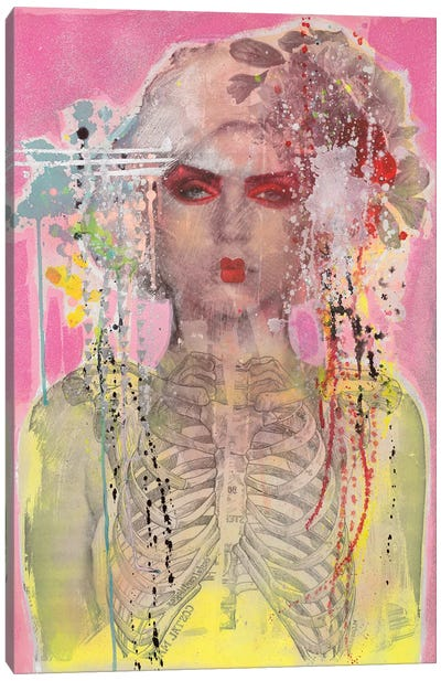 Debbie As Geisha Canvas Art Print