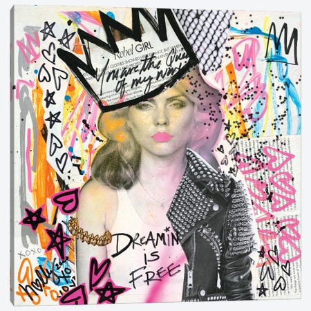 Dreamin  Debbie Canvas Print #HWS5} by HOLLYWOULD STUDIOS Canvas Art