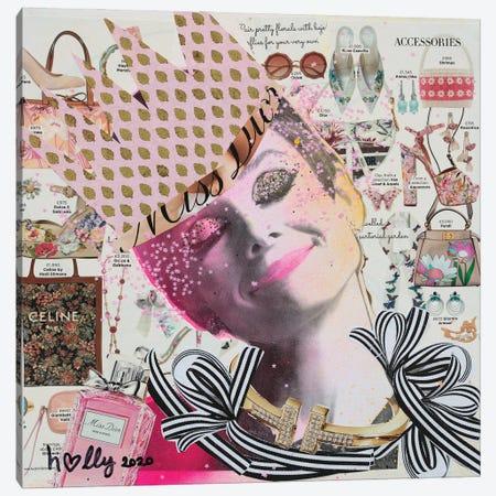 Happy Audrey Canvas Print #HWS9} by HOLLYWOULD STUDIOS Canvas Print