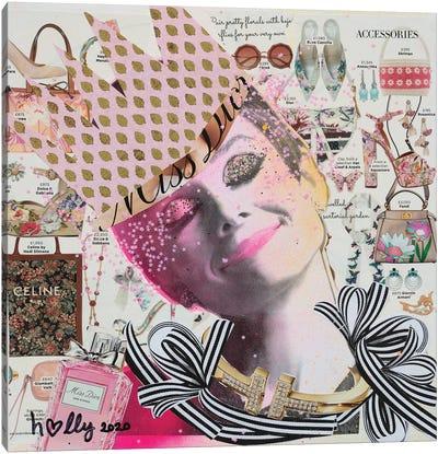 Happy Audrey Canvas Art Print