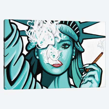 Free To Get Lifted Canvas Print #HYL10} by Hybrid Life Art Canvas Art