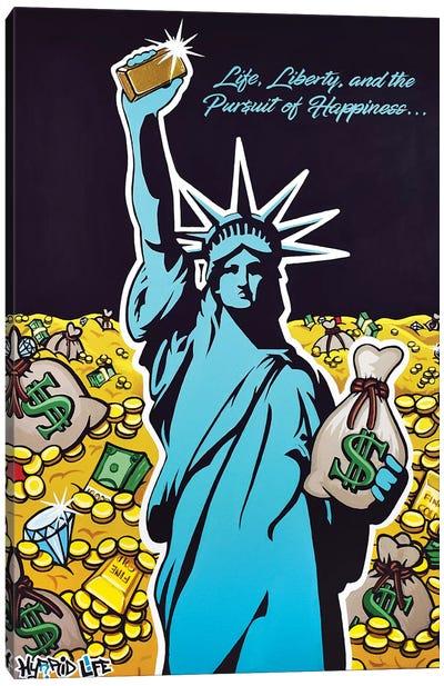 Gold Liberty Canvas Art Print