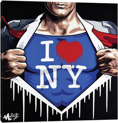 Heroes Love NY Canvas Art Print
