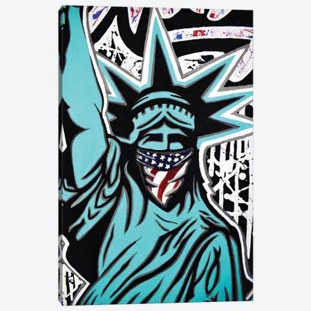 Lady Liberty Bandana Canvas Print #HYL15} by Hybrid Life Art Art Print