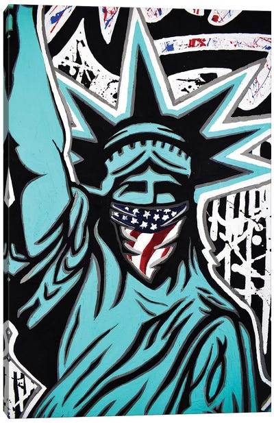 Lady Liberty Bandana Canvas Art Print