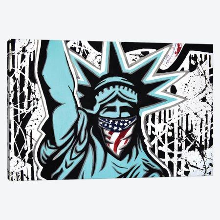 Lady Liberty Bandana Landscape Canvas Print #HYL17} by Hybrid Life Art Art Print