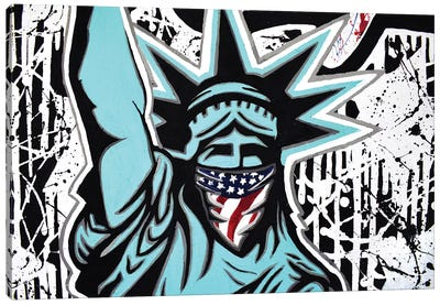 Lady Liberty Bandana Landscape Canvas Art Print