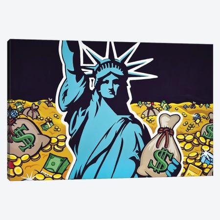 Liberty With Gold Canvas Print #HYL20} by Hybrid Life Art Canvas Print