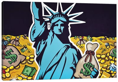 Liberty With Gold Canvas Art Print