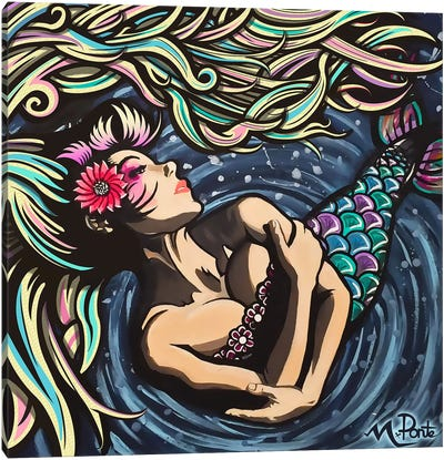 Mermaid Love Canvas Art Print