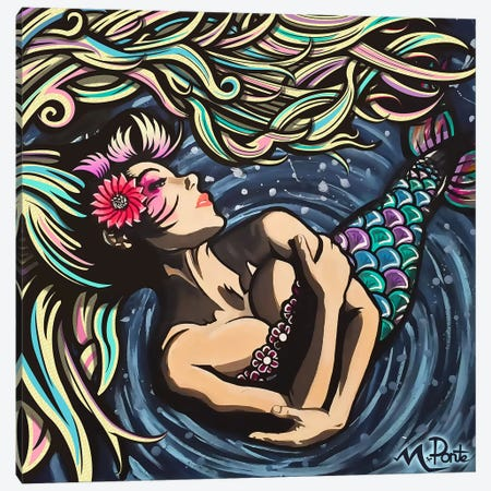 Mermaid Love 3-Piece Canvas #HYL21} by Hybrid Life Art Canvas Print