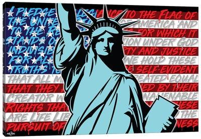 Patriotic Liberty Canvas Art Print