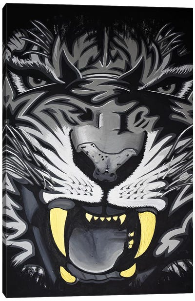 Roar Closeup Canvas Art Print