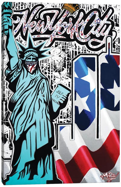 Twin Towers X Liberty NYC Canvas Art Print