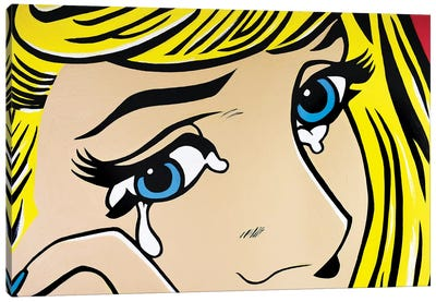 Crying Girl Eyes Only Canvas Art Print