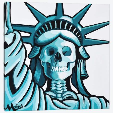 Dead Liberty Canvas Print #HYL6} by Hybrid Life Art Canvas Art