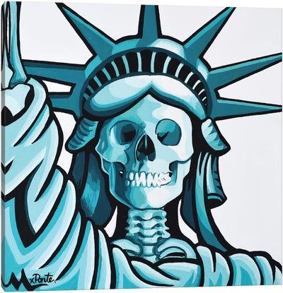 Dead Liberty Canvas Art Print