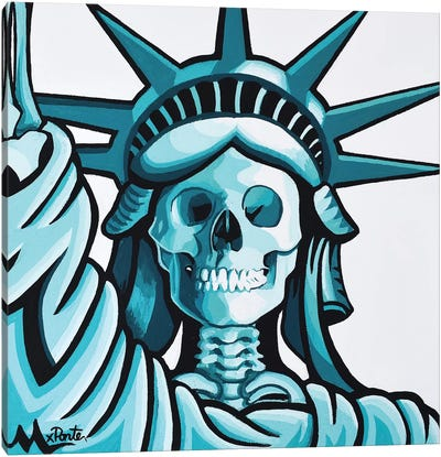 Dead Liberty Canvas Art Print