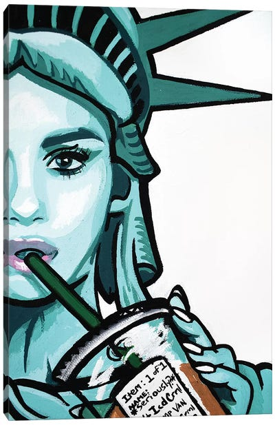 Free To Be Basic Half Face Only Canvas Art Print