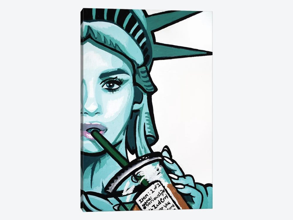 Free To Be Basic Half Face Only by Hybrid Life Art 1-piece Canvas Art