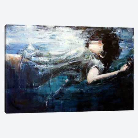Underwater Canvas Print #HYU39} by Hyunju Kim Art Print