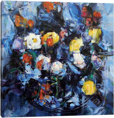 Blue Cezanne Canvas Art Print