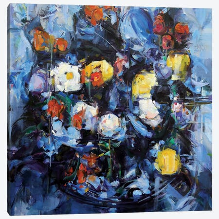 Blue Cezanne Canvas Print #HYU4} by Hyunju Kim Canvas Wall Art
