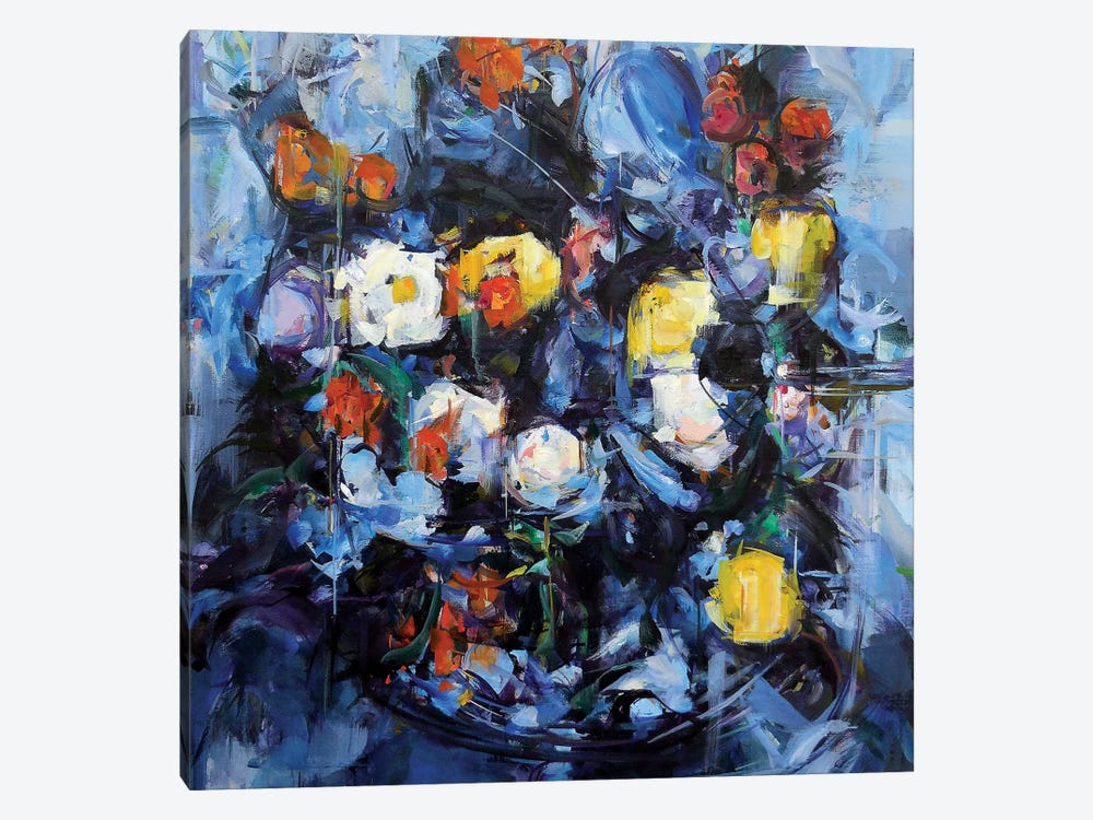 Blue Cezanne by Hyunju Kim 1-piece Canvas Artwork