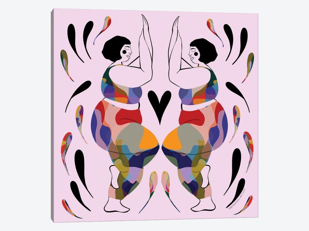 Curvy Eagle Pose by Harmony Willow 1-piece Art Print