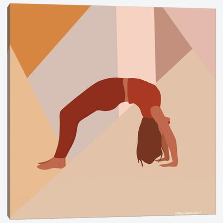Backbend Yoga Pose Canvas Print #HYW1} by Harmony Willow Canvas Print