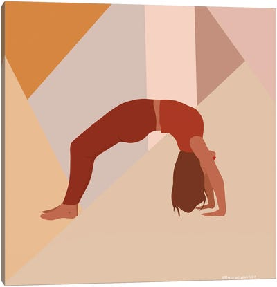 Backbend Yoga Pose Canvas Art Print