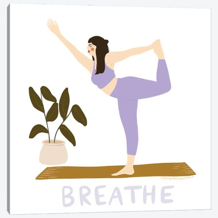 Breathe Canvas Print #HYW20} by Harmony Willow Canvas Art