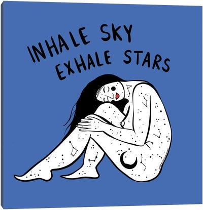 Exhale Stars Canvas Art Print