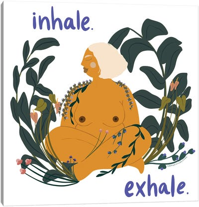 Inhale / Exhale Canvas Art Print